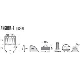 High Peak Ancona 4 - Tente - gris